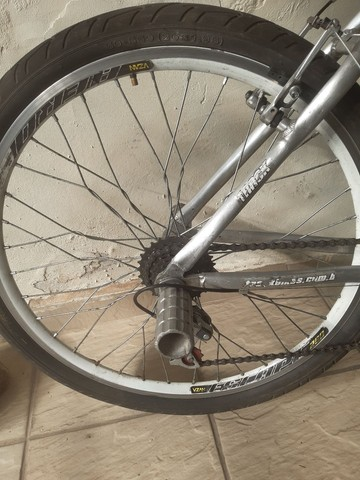 Bicicleta aro 26 aluminio roda aero cubo - Foto 3