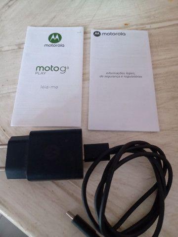Embalagem Moto G8 com fone carregador manual - Foto 3
