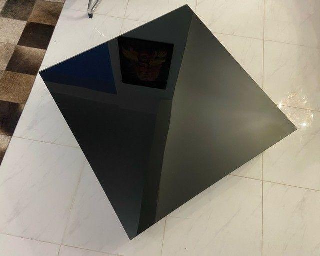 Mesa de centro Tok Stok Laqueada c tampo de vidro - Foto 4