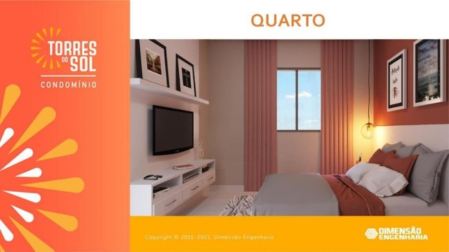 construção dimensão// apartamento, torres do sol- 2 quartos