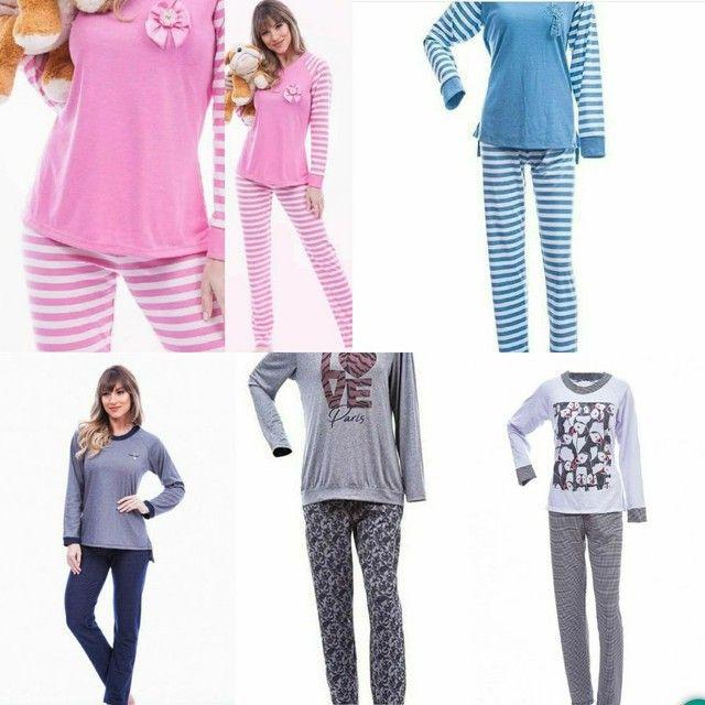Pijamas Aime novos molicoton suedine presente dia das mães - Foto 3