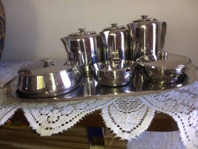 conjunto de café em aço inoxidável marca meridional completo - Foto 4