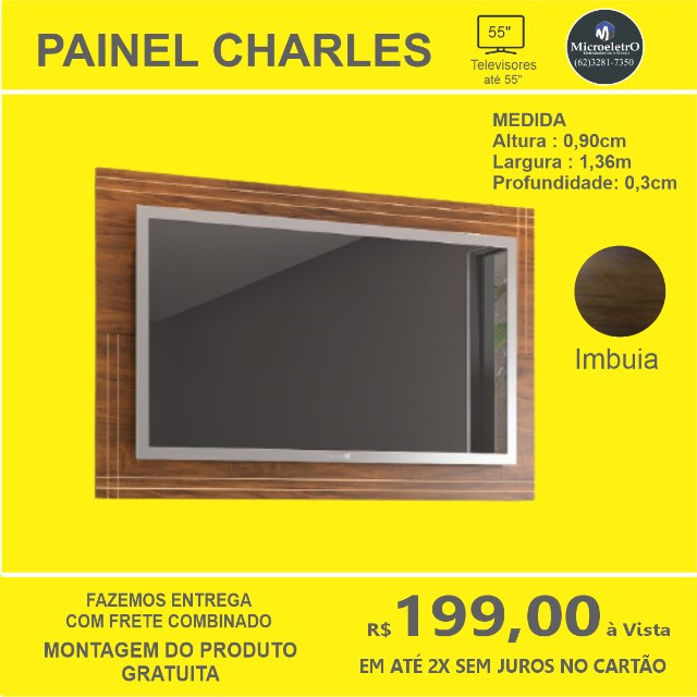 Painel Charles para TV de até 55 polegadas