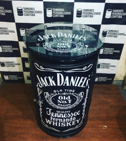 Tambor Personalizado com vidro Jack Daniels e lâmpada de led - Foto 3