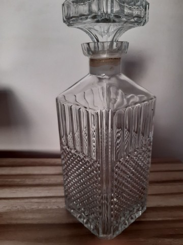 garrafa antiga para bebidas antiga vidro bico de jaca - Foto 4