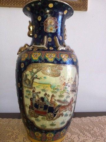 vaso de porcelana chinesa antigo inicio do século XIX - Foto 5