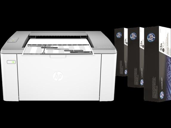 Impressora HP LaserJet Ultra M106w Wifi + 3 toners