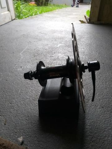 Cubo shimano blocagem + disco de freio shimano