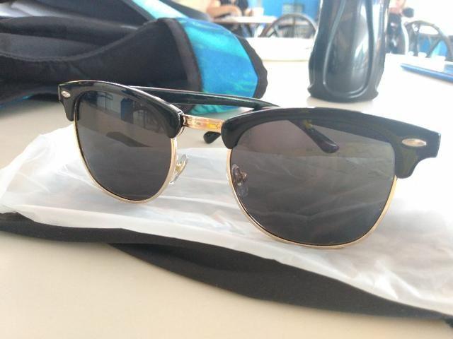 Óculos vintage preto proteção uv400