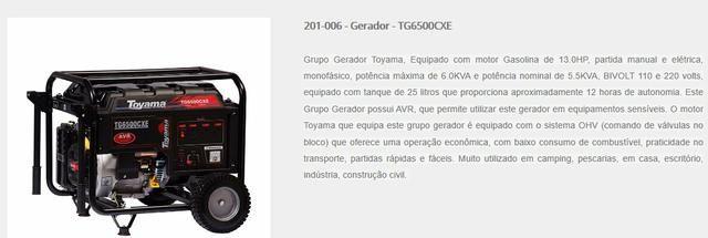 Gerador Toyama TG6500CXE