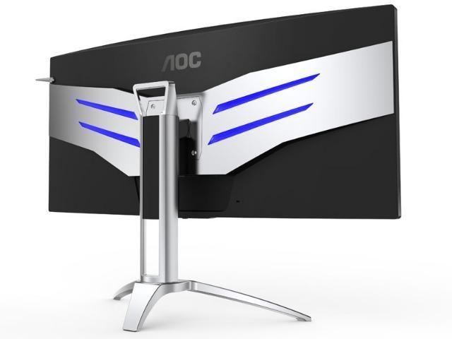 Monitor gamer entusiasta aoc 35 led 3440x1440 ultra wide 120hz nvidia gsync hdmi dp - Foto 2