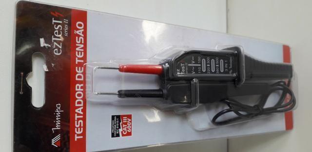 Testador de Tensão Cat III 600v Minipa