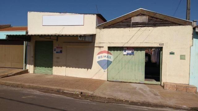 Casa 02 dormitórios e/ou salão comercial, locação, R$ 900,00 cada, Cosmópolis, SP