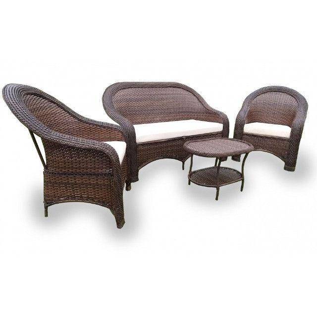 Conjunto De Cadeiras Fibra Sintética Externo Vime Junco