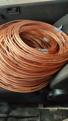 Tubulação de cobre..