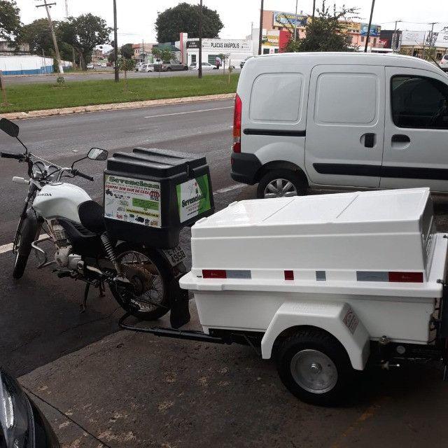 Carretinha para moto modelo Minimum SX Motoprático - Foto 7