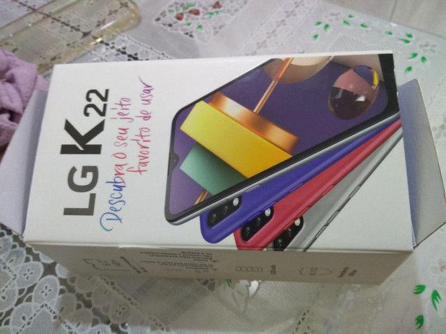 LG k22 novo na caixa nota fiscal garantia - Foto 6