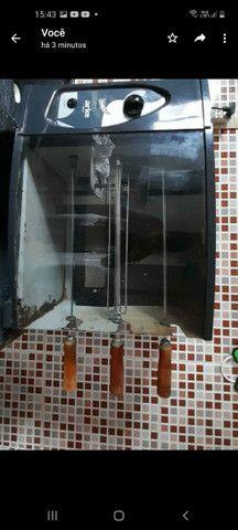 Churrasqueira à gás automática 3 espetos - Foto 3