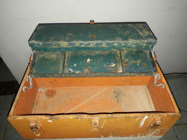 Caixa de ferramenta antiga em aço  - Foto 3