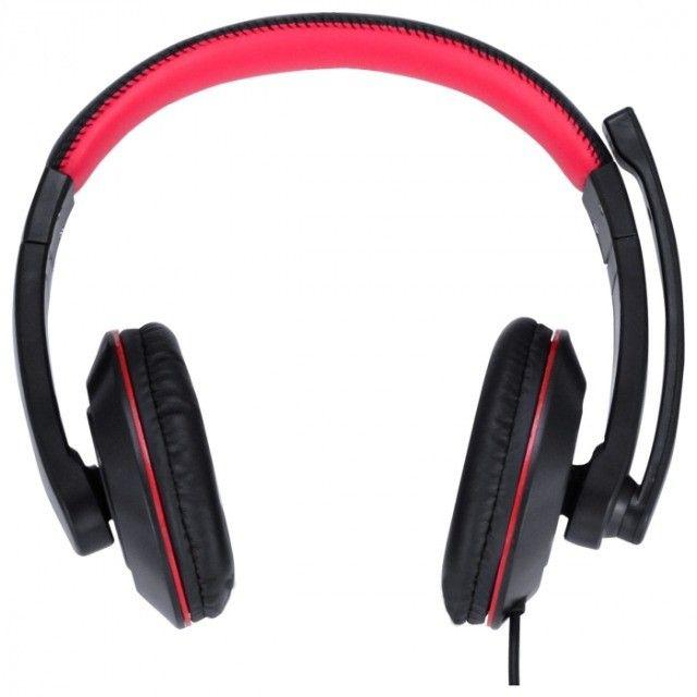 headset gamer v blade ii usb com mic retratil preto com vermelho - gh200 - Foto 2