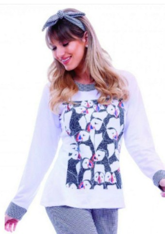 Pijamas Aime novos molicoton suedine presente dia das mães - Foto 6
