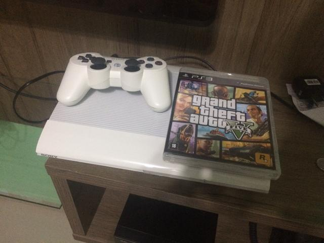 PlayStation 3 WHITE Edition 1 Controle 16gb + GTA V