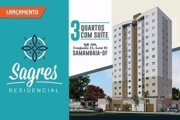 Apartamentos novos de 3 quartos na Samambaia ao lado do metrô