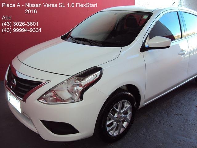 nissan versa sl 1 6 16v flex fuel 4p mec 2016 477737598. Black Bedroom Furniture Sets. Home Design Ideas