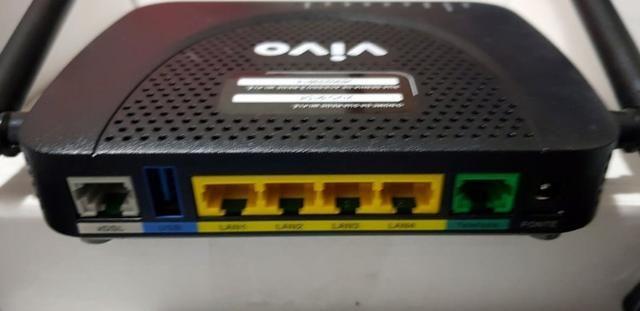 Modem Adsl Roteador WiFi 300Mb - Arcadyan 2 Antenas