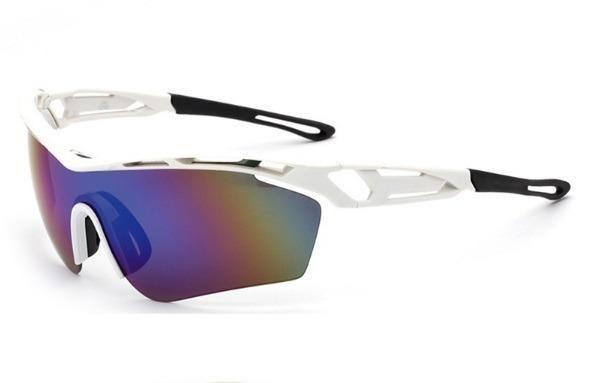 Óculos Branco Ciclismo Mtb Corrida Bike Esporte