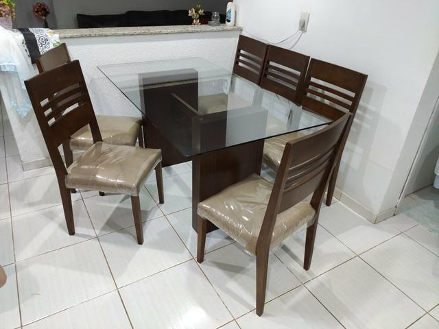 Mesa com 6 cadeiras 1,60x0,90