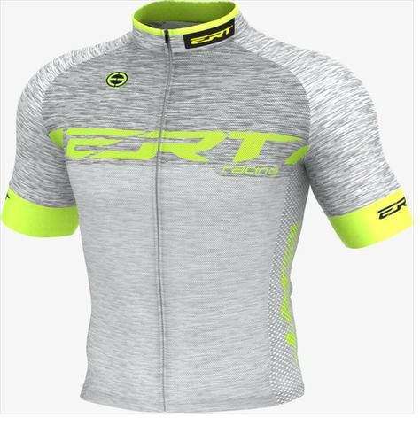 Camisa De Ciclismo Elite Ert Racing Prata Slim Fit Mtb Speed
