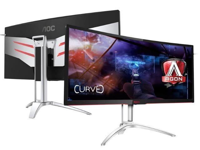Monitor gamer entusiasta aoc 35 led 3440x1440 ultra wide 120hz nvidia gsync hdmi dp