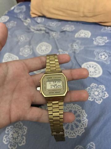 0d72ddc2ca7 Relógio Original Casio Vintage A168 Dourado unissex - Bijouterias ...