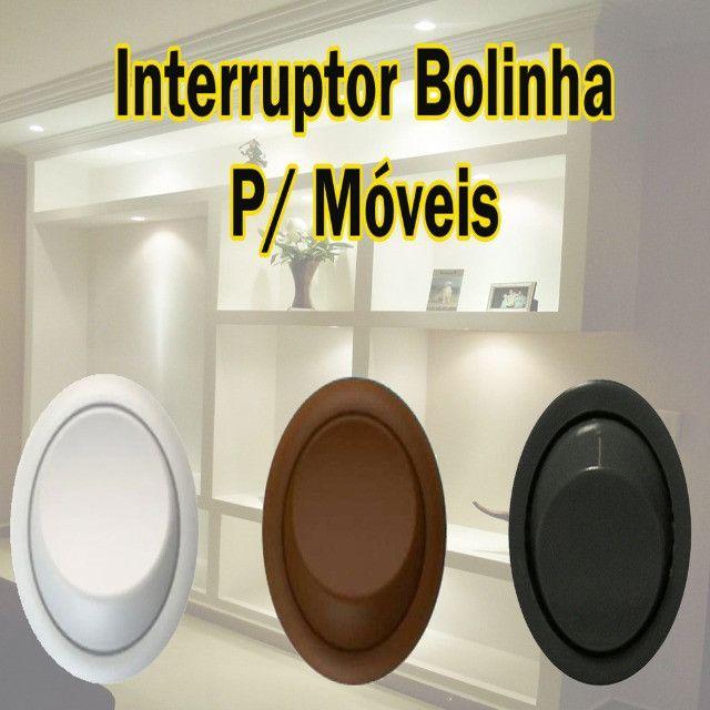 Interruptor Paralelo Bolinha Gota p/ Móveis