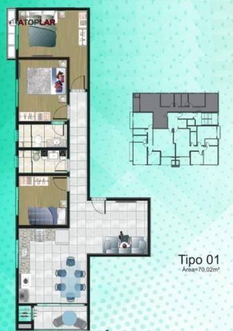 Apartamento com 3 dormitórios para alugar, 70 m² por R$ 2.200/mês - Perequê - Porto Belo/S - Foto 15
