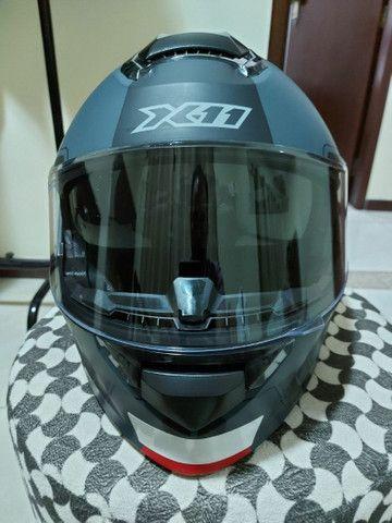 Capacete X 11 robocop com óculos interno top !!!!!