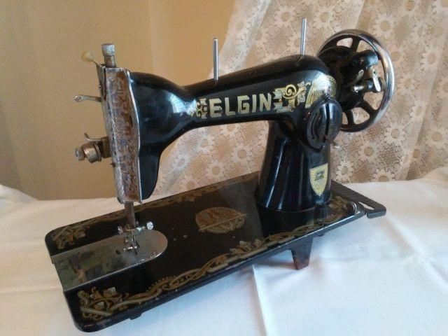 Máquina de costura Elgin antiguidade, relíquia - Foto 5