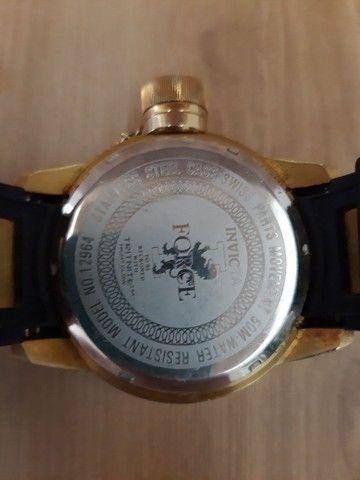 Relógio Invicta Force mod 12964 banhado ouro 18 (Usado) - Foto 5