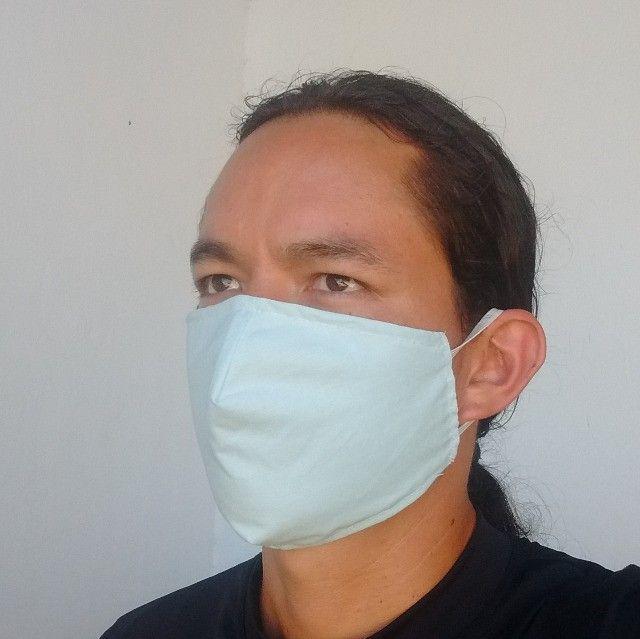 Máscaras 100% algodão camada dupla - Foto 4