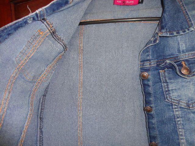 Jaqueta jeans tamanho 16 menina - Foto 4