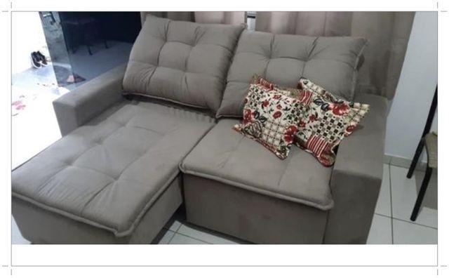 Oferta!! Estofado Retratil Reclinavel 2,00m Largura com Pillow - Apenas R$1.599,00