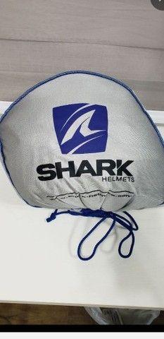 Capacete Shark Skwal Cargo - Viseira Solar e Led. Tamanho 59/60 Large. - Foto 10
