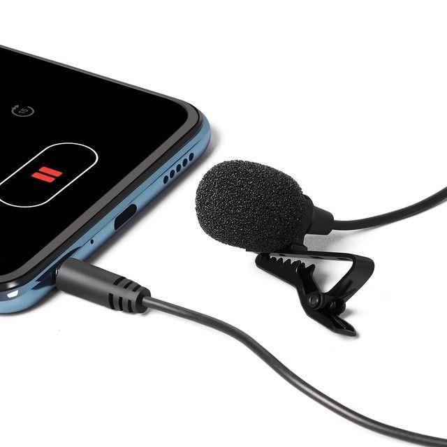 Microfone De Lapela Celular Smartphone Profissional Stereo - Foto 2