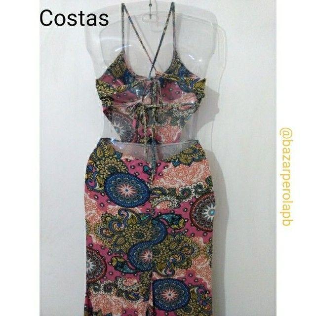 Vestido Estampado Longo Costa Nua - Foto 2