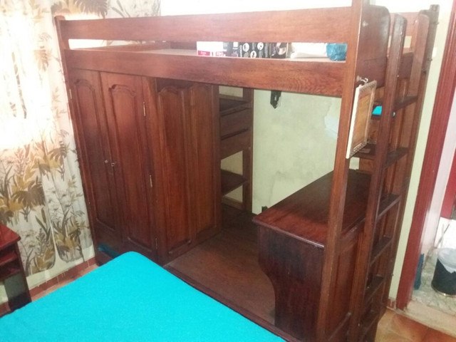 Beliche guarda-roupa escrivaninha armário 4 em 1