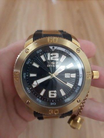 Relógio Invicta Force mod 12964 banhado ouro 18 (Usado) - Foto 2