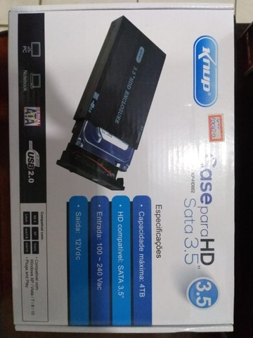 Case Usb 3.5 case para HD grande de computador
