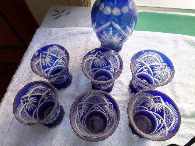 Copos azuis antigos