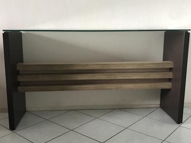 Aparador/bancada em MDF e vidro transparente 12mm - Foto 3